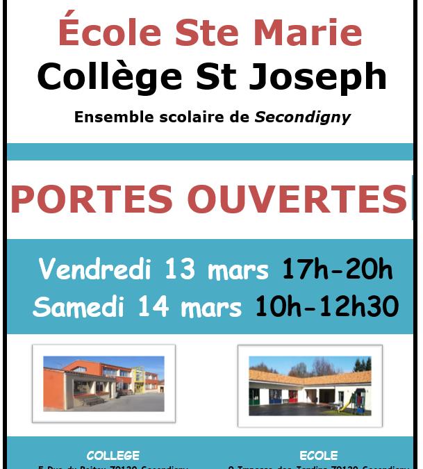 Portes ouvertes collège St Jo Secondigny